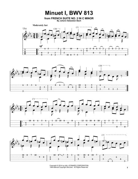 Minuet 1, BWV 813