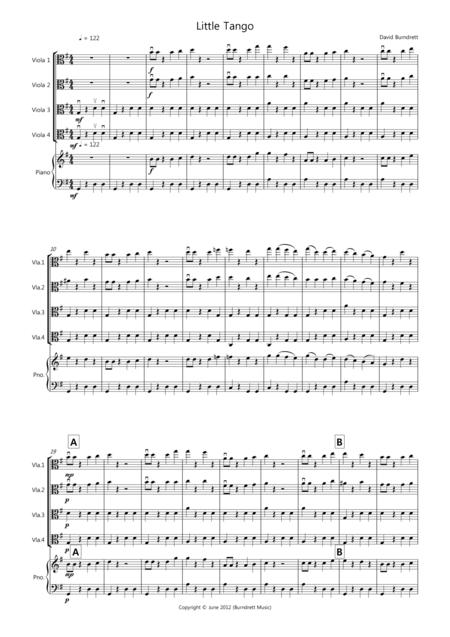 Little Tango for Beginning Viola Quartet