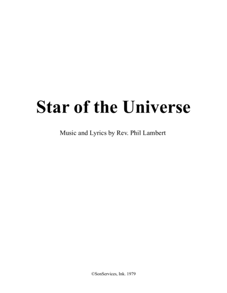 Star of the Universe