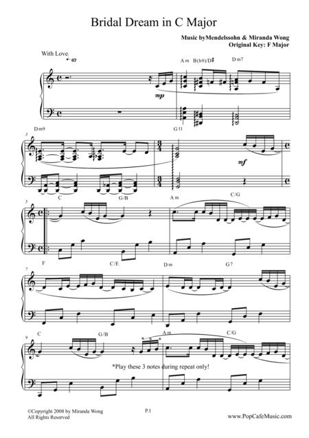 Bridal Dream in C Key - Wedding Piano Music by Miranda Wong