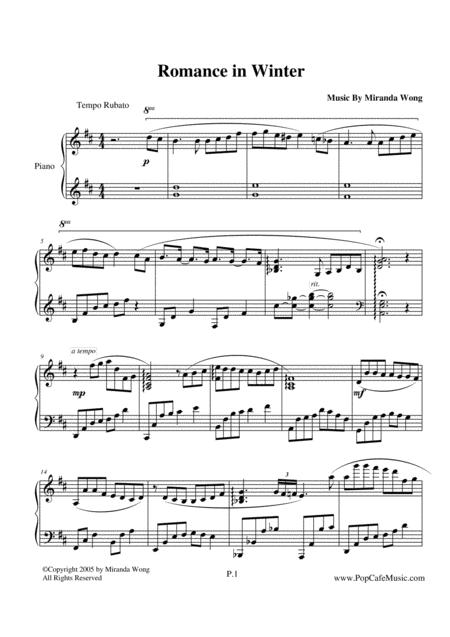 Romance in Winter - Romantic Piano Music by Miranda Wong