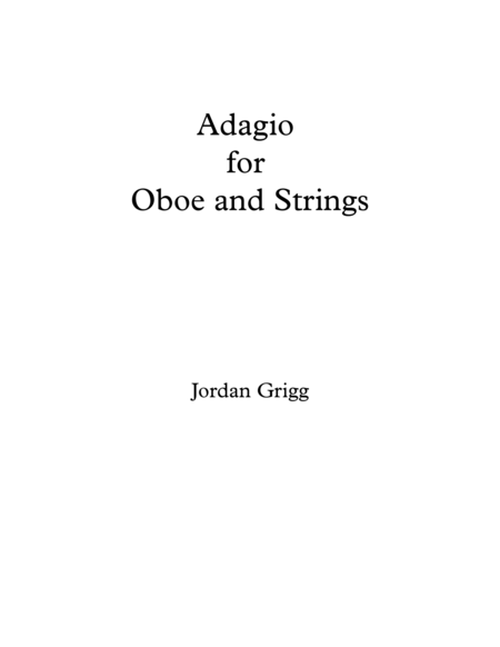 Adagio for Oboe and Strings