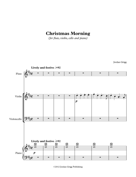 Christmas Morning (for flute, violin, cello and piano)