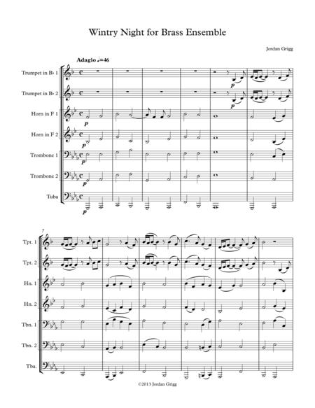 Wintry Night for Brass Ensemble