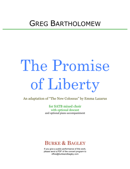 The Promise of Liberty (SATB)