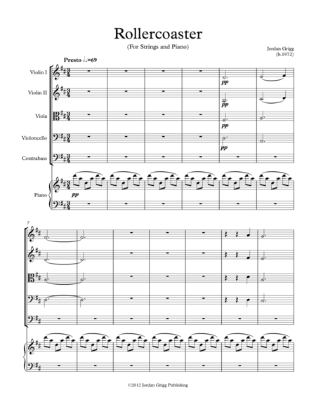 Rollercoaster (For Strings and Piano)