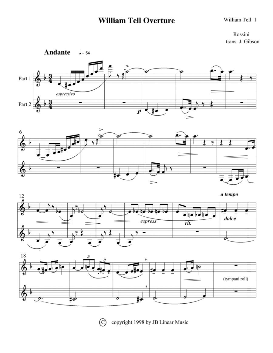 Clarinet Duet - Rossini Overtures!
