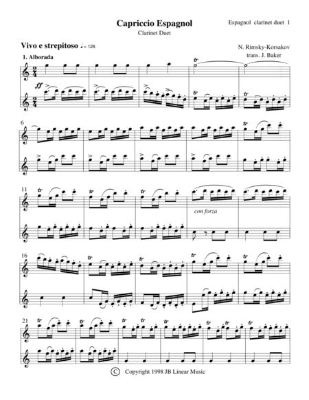 Clarinet Duet - Capriccio Espagnol by Rimsky-Korsakov
