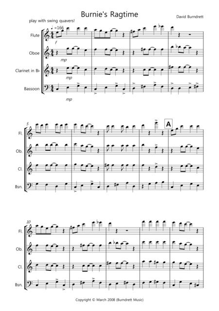 Burnie's Ragtime for Wind Quartet