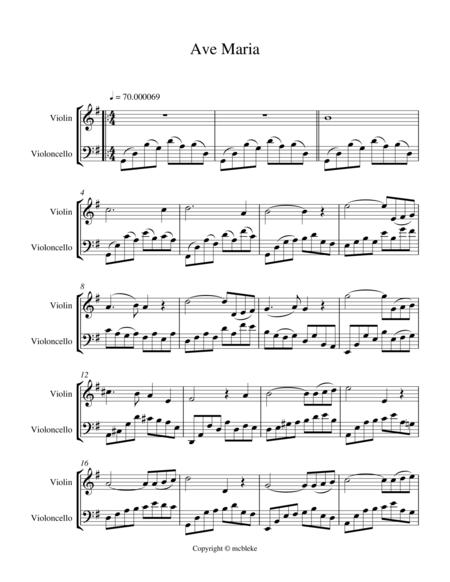 Ave Maria (violin and cello)