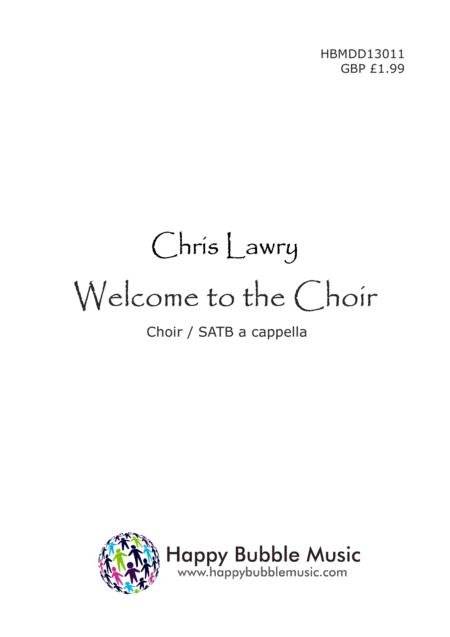 Welcome to the Choir - SATB Choir Score