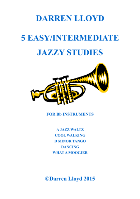 5 easy - intermediate jazzy studies
