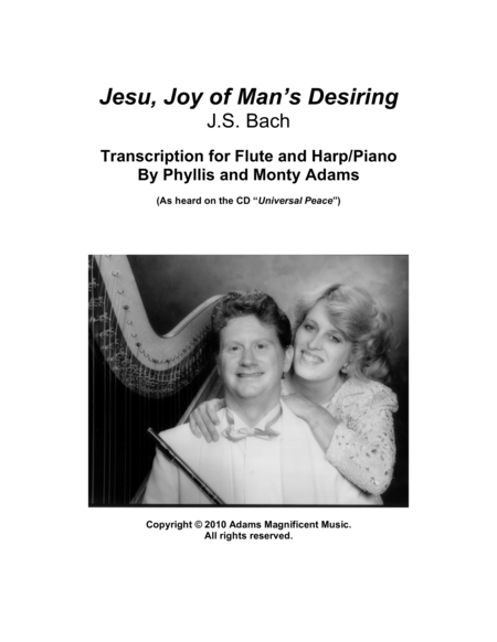 Jesu, Joy of Man's Desiring for Flute and Harp