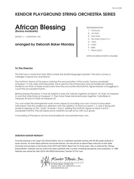African Blessing (Bwana Awabariki) - Full Score