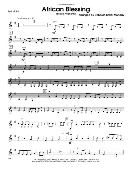 African Blessing (Bwana Awabariki) - Violin 2