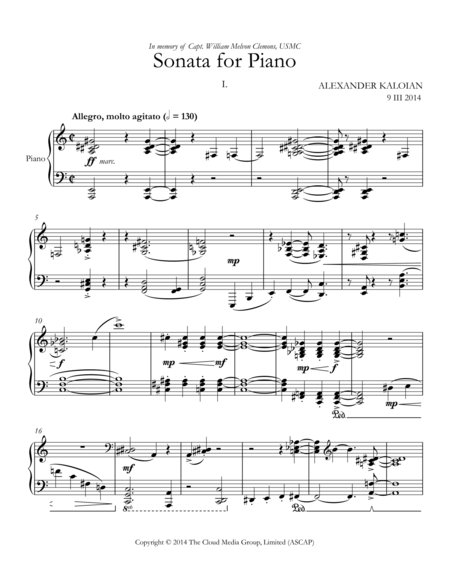 Sonata for Piano (2014)