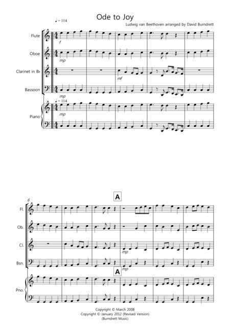Ode to Joy for Wind Quartet
