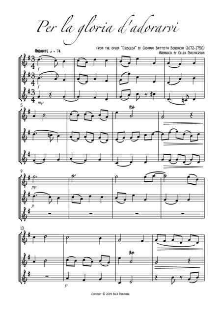 Flute Trio - Per la gloria d'adorarvi - from the opera