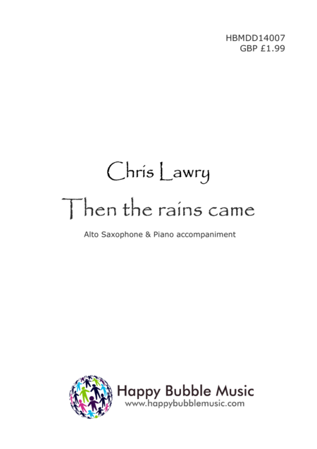 Then the Rains Came - for Alto Saxophone & Piano (from Scenes from a Parisian Cafe)