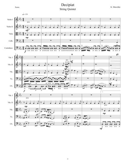 Op. 28 - Decipiat for String Quintet