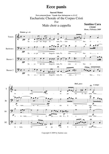 Ecce panis (Eucharistic Chorale) for male choir a cappella