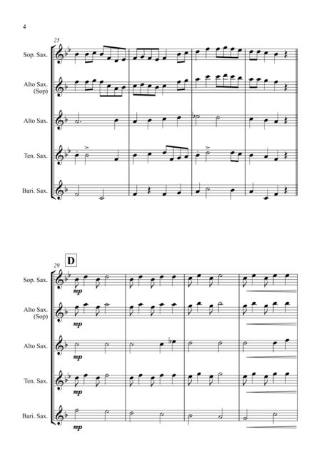 Turkey in the Straw - for Saxophone Quartet