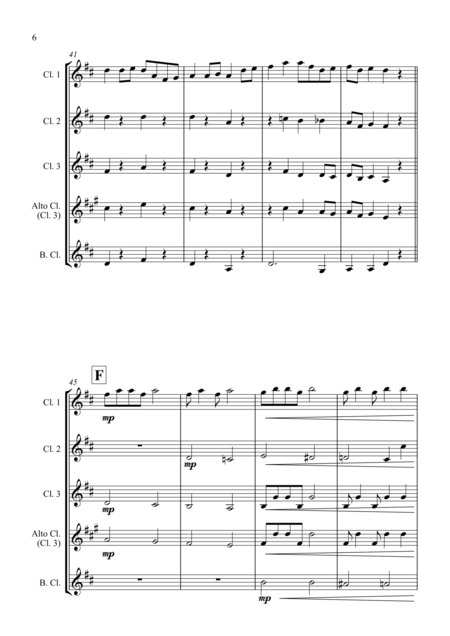 Turkey in the Straw - for Clarinet Quartet