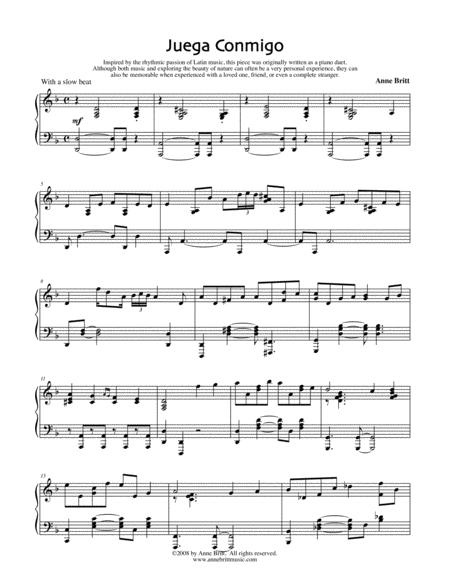 Juega Conmigo (Piano Solo Version)