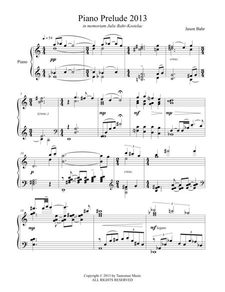 Piano Prelude 2013