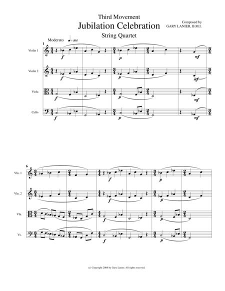 JUBILATION CELEBRATION (String Quartet with Parts)