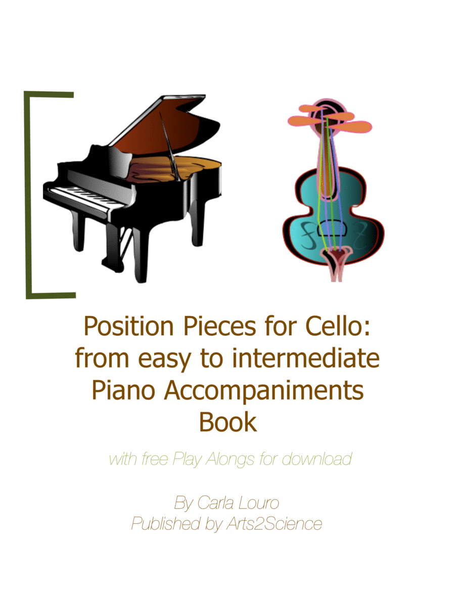 Position Pieces for Cello: from easy to intermediate Piano Accompaniments Book