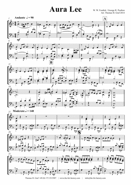 Aura Lee - Love me tender - Elvis - Brass choir