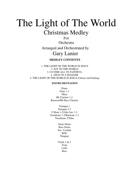 THE LIGHT OF THE WORLD (Orchestra and Parts)