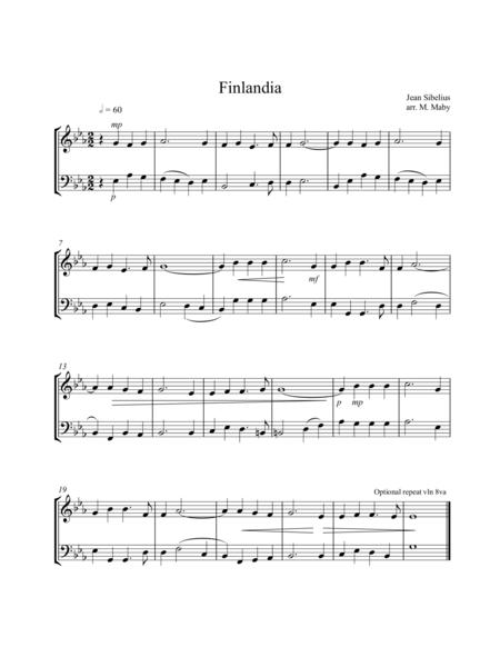 Finlandia, for violin & cello duet