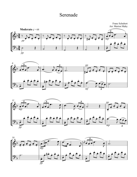 Serenade for violin and cello duet