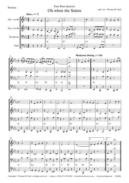 Oh when the saints - Easy Brass Quartet