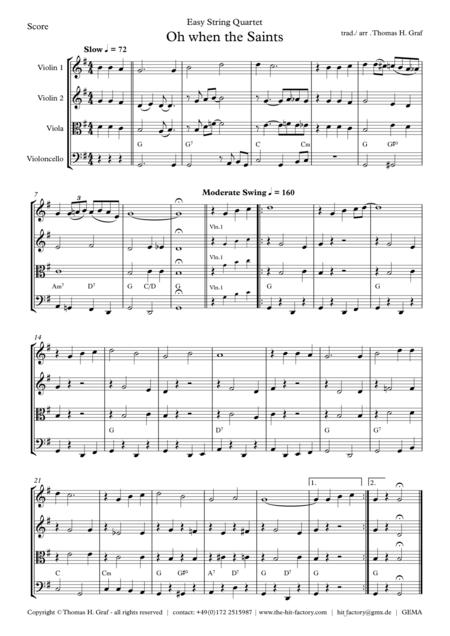 Oh when the saints - Easy String Quartet
