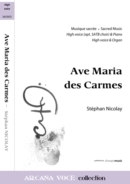 Ave Maria des Carmes (complete score)