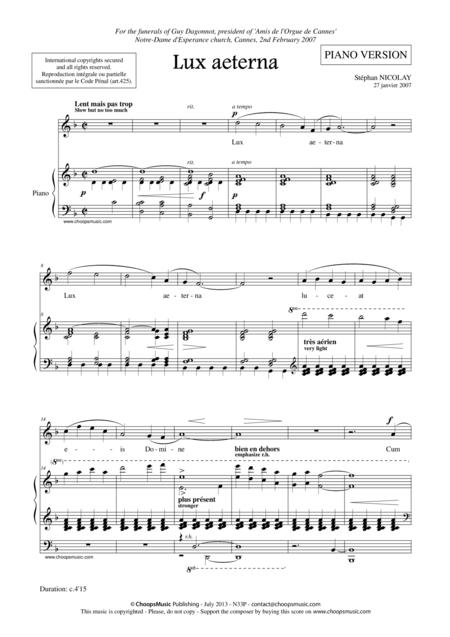 Lux Aeterna (w/piano)