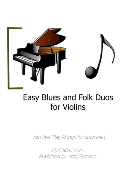 Easy Blues, Tango and Folk Duos for Violins