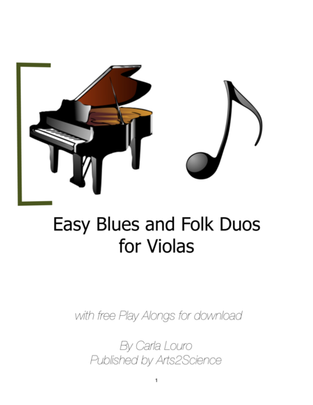 Easy Blues, tango and Folk Duos for Violas