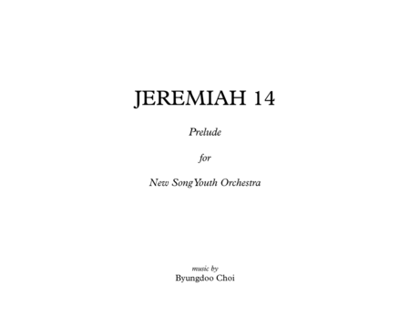 JEREMIAH 14 - Prelude for Youth Orchestra