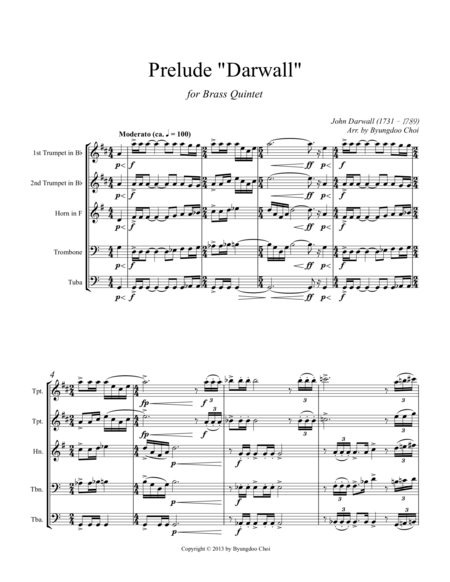 Prelude - Darwall for Brass Quintet