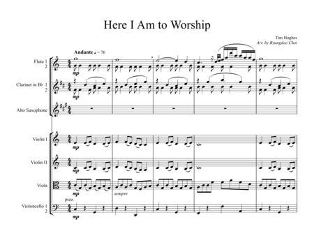 Here I Am to Worship for Chamber Ensemble