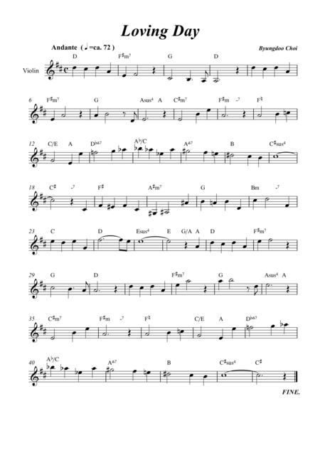Loving Day for Violin Solo