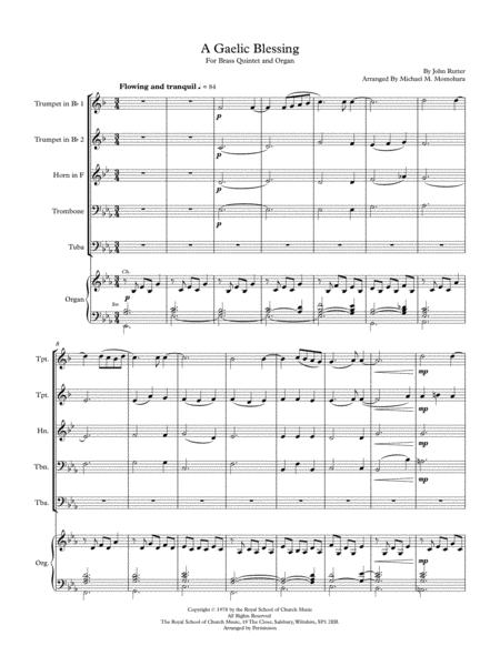 A Gaelic Blessing (Full Score for Brass Quintet)