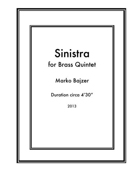 Sinistra for Brass Quintet