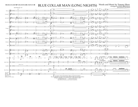 Blue Collar Man (Long Nights) - Full Score