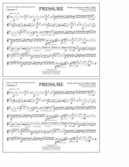 Pressure - Clarinet 1