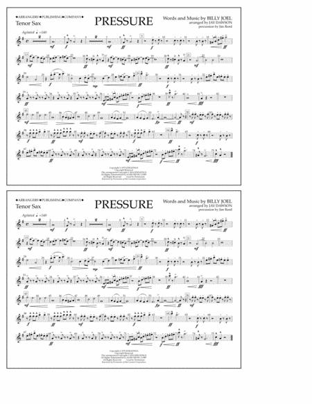 Pressure - Tenor Sax